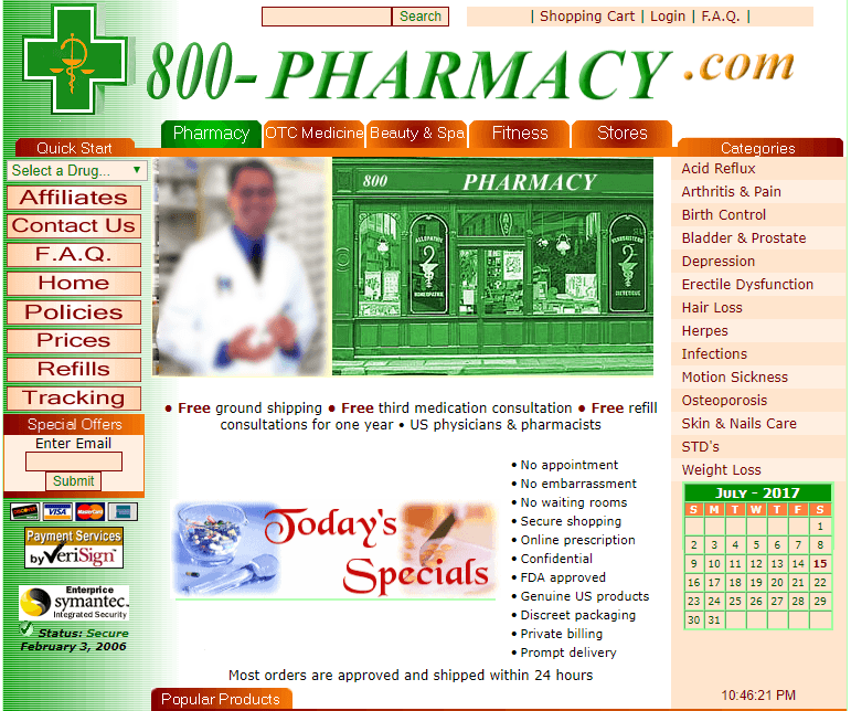 800-pharmacy com Review – US-Based Pharmacy With a