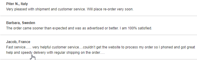 Trust Pharmacy Consumer Comments