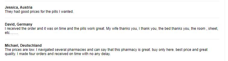 Cheap Pills Testimonials